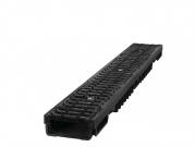 Plastový žlab C250 s litinovou mříží H105 (1000 x 130 x 105 mm)