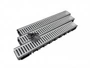 Plastový žľab A15 s pozinkovanou mrežou (set) (1000 x 135 x 85) 3 Ks/bal