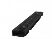 Plastový žlab B125 s litinovou mříží H55 ( 1000 x 130 x 55 mm)