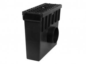 Plastová vpusť C250 s litinovou mříží H105 (333 x 130 x 300mm)