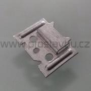 Montážní sponka pro plastové palubky P872 (malá) - pozink. plech /1 ks