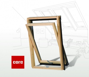 Dřevěné střešní okno s mikroventilací CORE