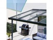 Hliníková pergola Terrasendach Premium - VSG sklo / antracitová konstrukce