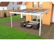 Hliníková pergola Terrasendach Premium - VSG sklo / bílá konstrukce